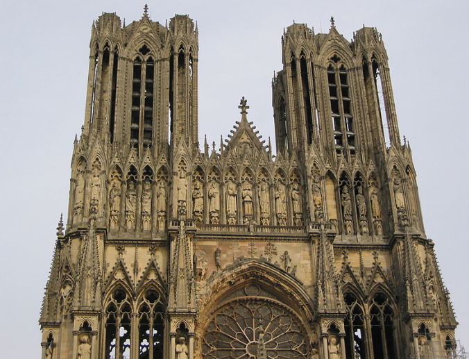 Google image of Reims Cathedral exterior