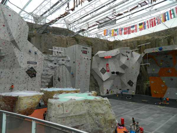 International Scottish Climbing Center, you can not believe how large this facility was.