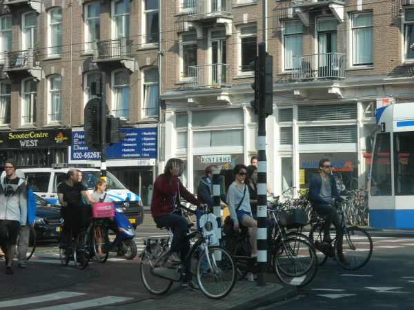 Rush hour Amsterdam style.