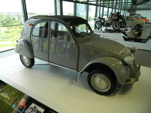 Citroen CV2.  Not sure why it was in the Wolfburg Autostadt Museum, maybe because it is one of the few cars that have less horse power than the Volkswagen.