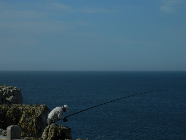Fishing the cliffs?