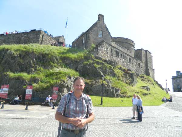 Just inside the main Edinburgh Castle wall