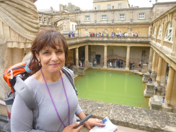 Jeanette at the Roman Baths.