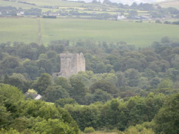 Blarney castle in the distance.