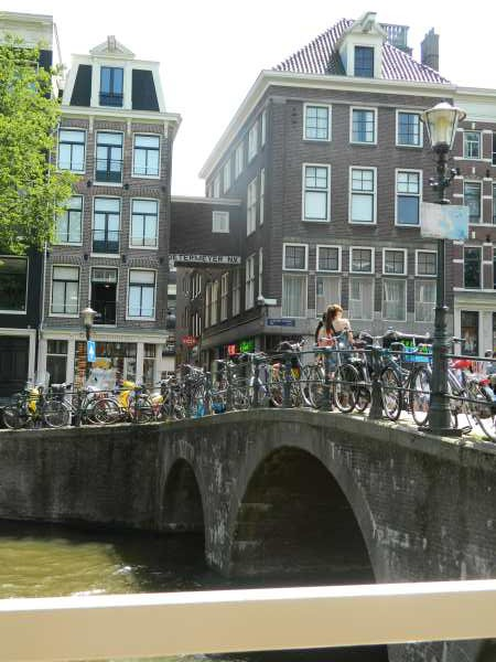 One of man bridges in this city of water ways and bicycles.