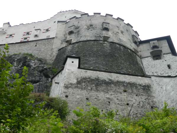 Hohenwerfen Castle from below.