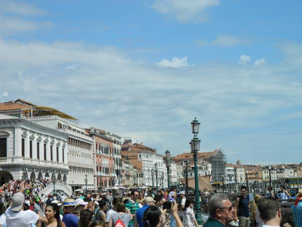 Piazza San Marco in the middle of the day.  Have to be tough in order to get through the crowds.