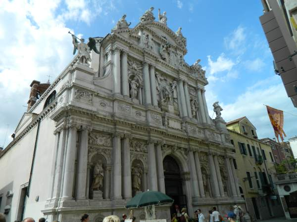 One of the many churches in Venice, each with there own square