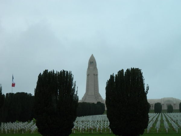 Douaumont ossuary near Verdon, France is a memorial to the soldiers who gave their lives in the Great War.