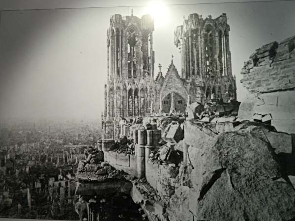 Photo taken after WWI shelling.