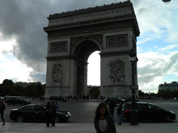 Arc de Triomphe, i qm unsure which is more entertaining to observe, the Arc or the traffic in the roundabout.  Watch this youtube video to get an Idea of what the trafic is like  http://www.youtube.com/watch?v=TTtsmBYIShA