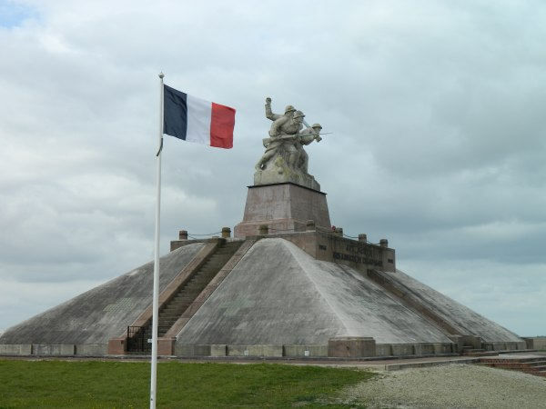 Battle memorial in french countryside.