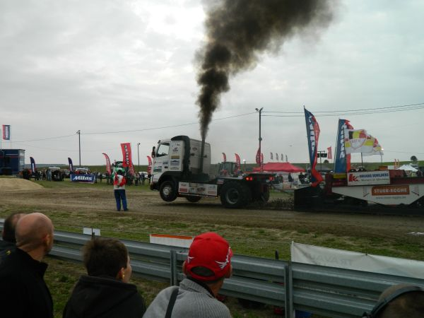 Even trucks got into the action.