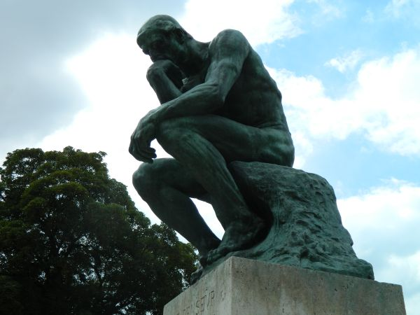 The Thinker at the RodinMuesuem