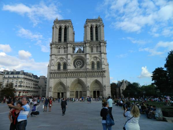 The always impressive Notre Dame Cathedral.