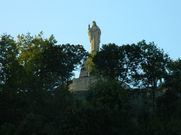 Christ statue keeping an eye on beach goers.