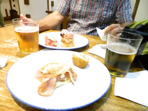 Tapas and beer