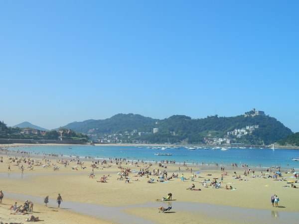 Beautiful San Sebastian beach.