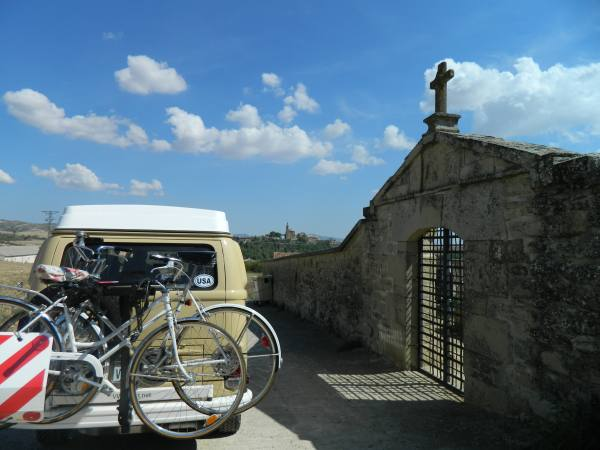 Old cemetery along the camino de santago,