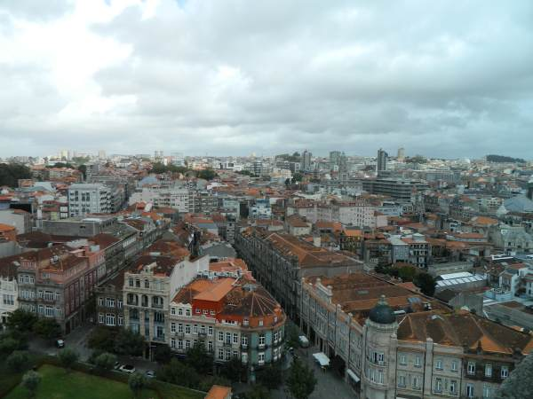 View after climbing the 252 steps to the top of the Clerigo Tower.