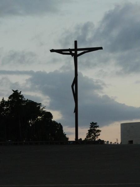 Huge modern crucifix