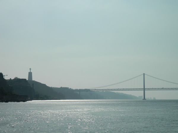 Lisbon's 26 de April bridge, very similar to San Francisco's Golden Gate