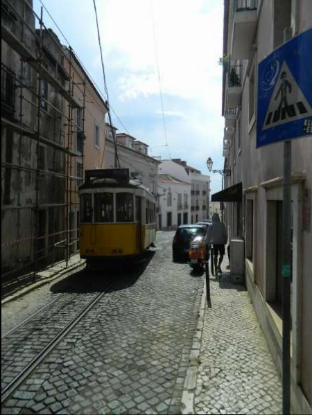 Lisbon trolley, a big help on this hilly city.