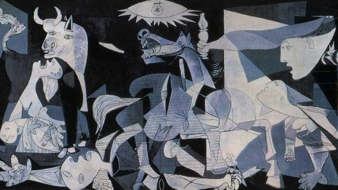 Picasso's Guardia is an amazing painting depicting the April 26, 1937 Nazi bombing of Guarida, Spain